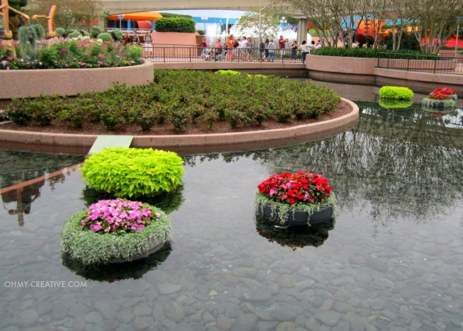 Floating Flower Pots Epcot International Flower and Garden Festival  |  OHMY-CREATIVE.COM