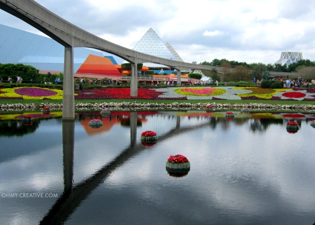 Monorail Epcot International Flower and Garden Festival   |  OHMY-CREATIVE.COM
