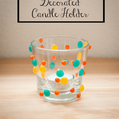 Easy Upcycled Decorated Candle Holder