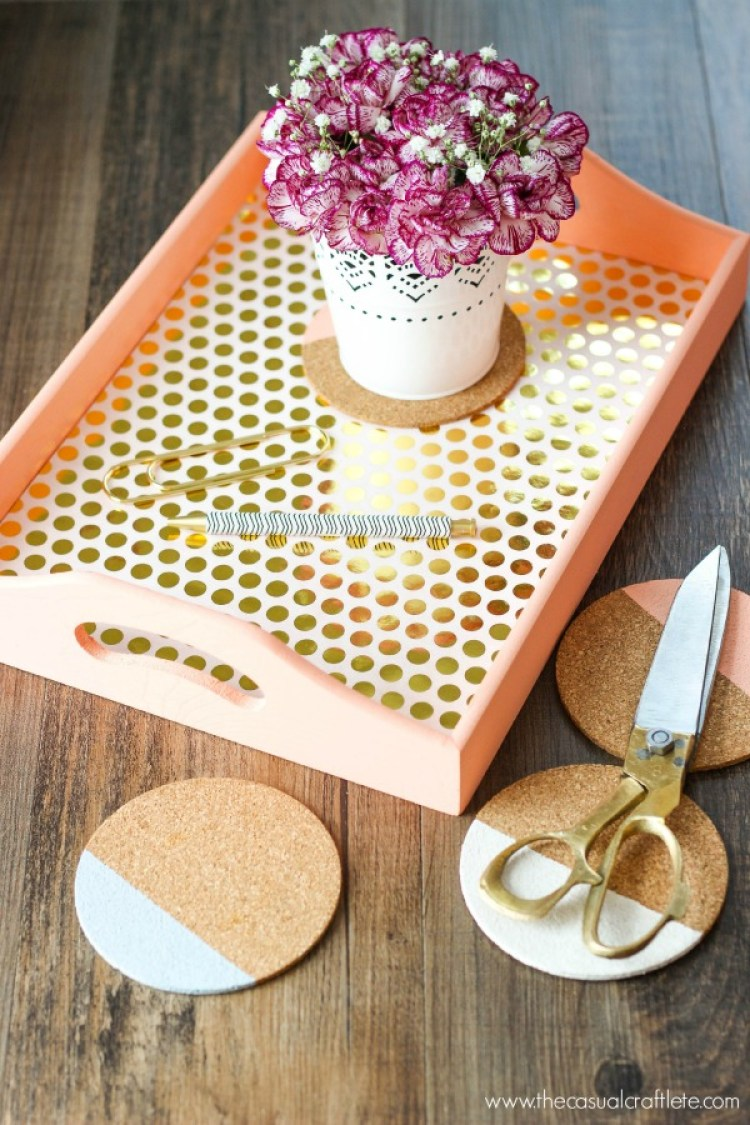 DIY-Wood-Serving-Tray-with-coloring-blocking-coasters