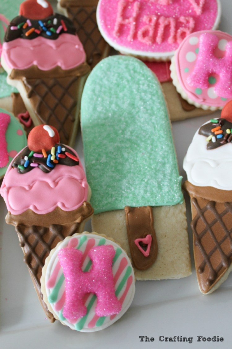 Ice Cream Sugar Cookies|The Crafting Foodie