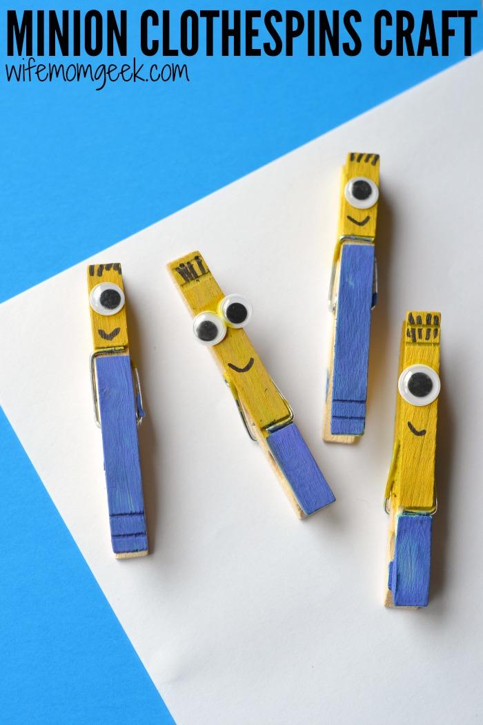 minion clothespins pin craft