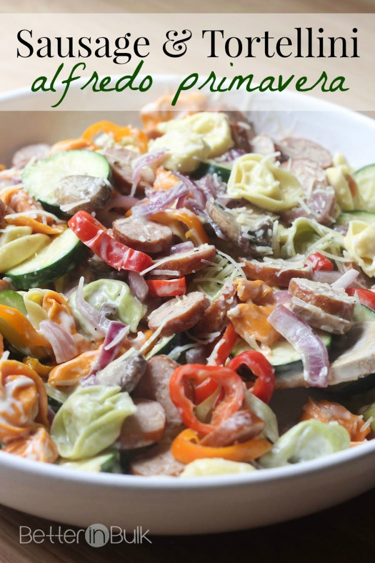 sausage and tortellini alfredo primavera recipe