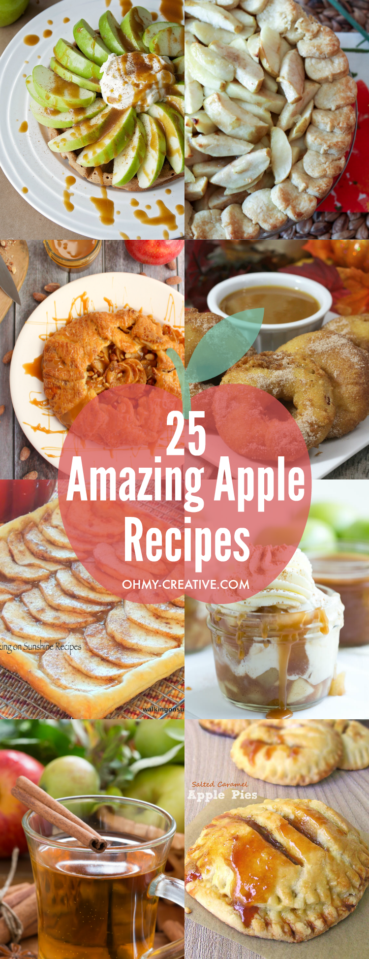 These 25 Amazing Apple Recipes are sinfully delicious and full of flavor just like mom use to make! I must try them all! | OHMY-CREATIVE.COM