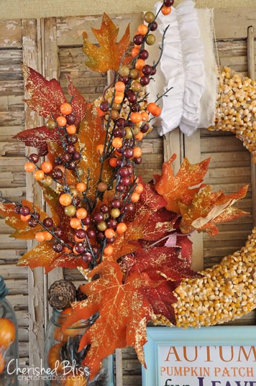 Popcorn Fall Wreath