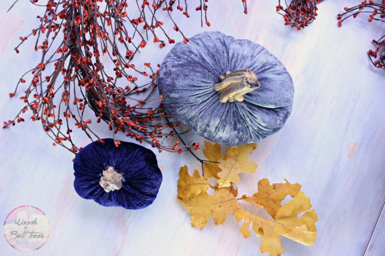 how to make handmade velvet plush pumpkins