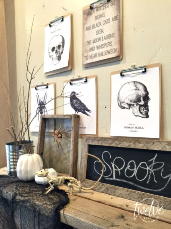 Halloween Clipboard Decor with Free Printable