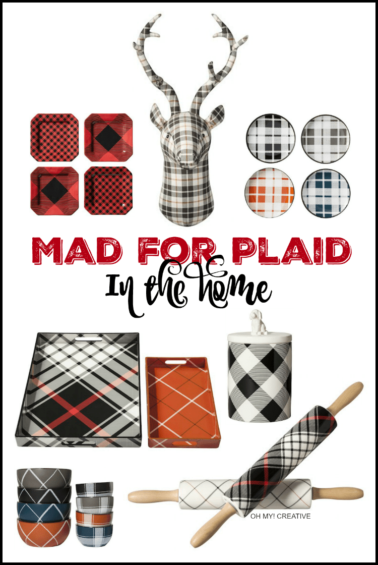 I am Mad for Plaid in the Home from Target! It's the little details and bold patterns that create a stylish home! | OHMY-CREATIVE.COM