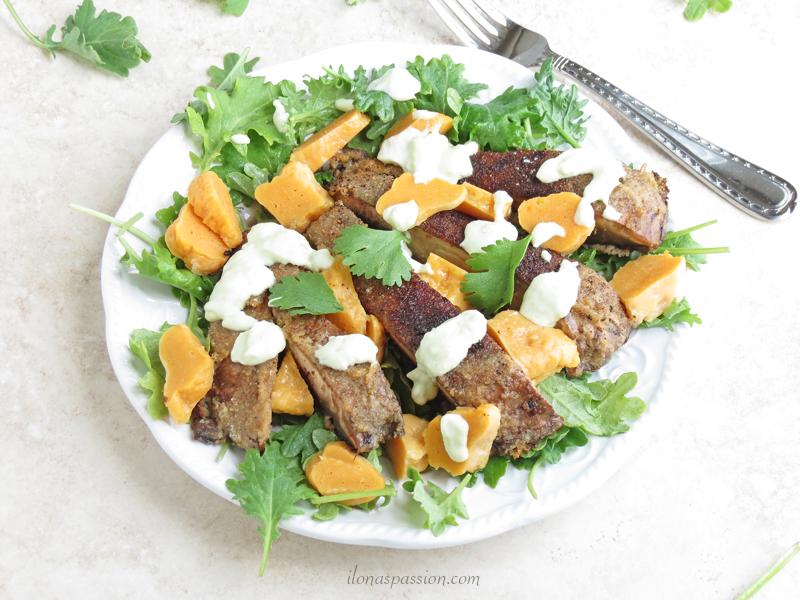 Sweet Potato Gnocchi with Portobello and Kale