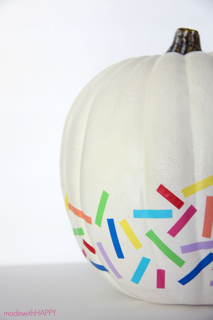 Washi tape no carve pumpkin