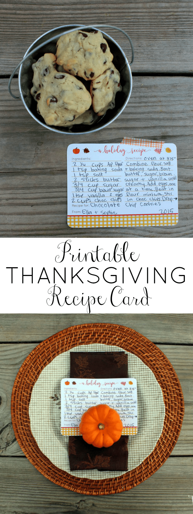 Thanksgiving Recipe Cards Printables | Printable Recipe Cards | Recipe Card Template | Recipe Template | Thanksgiving Recipe |  OHMY-CREATIVE.COM