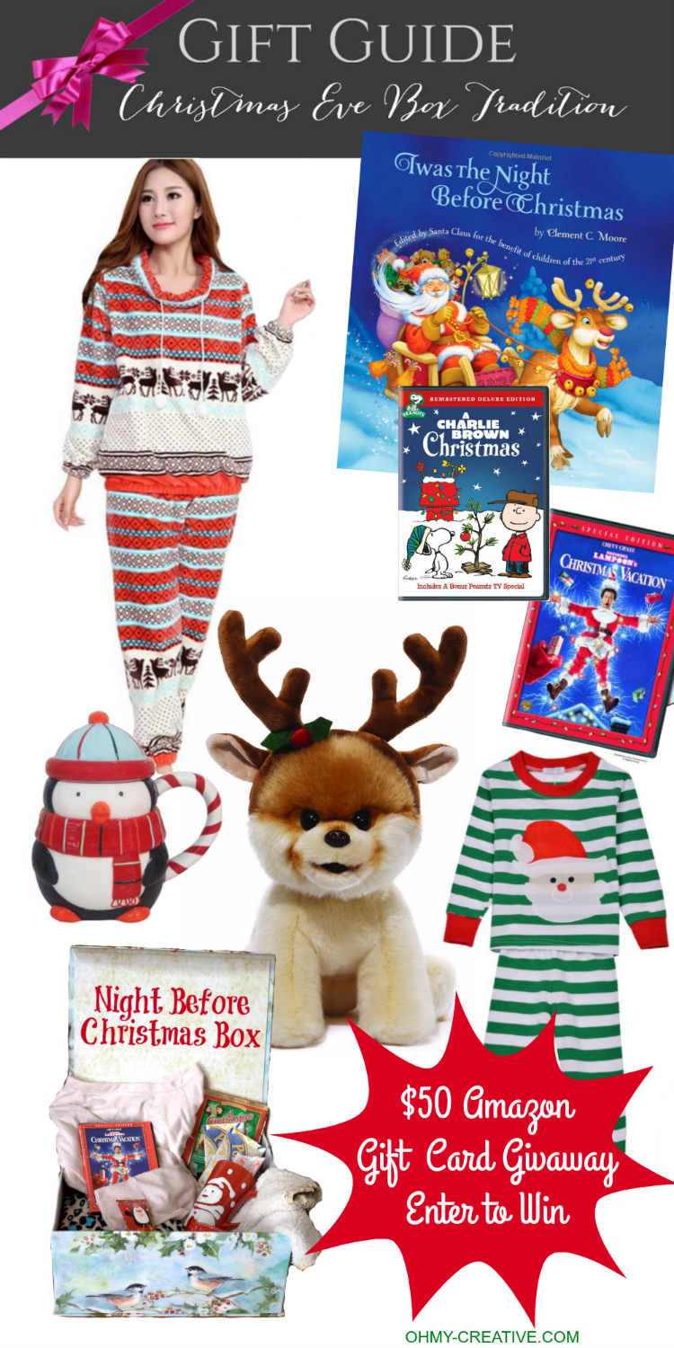 From toddlers to teens this Christmas Eve Tradition is so much fun! Here is a Holiday Gift Guide to fill your Night Before Christmas Box as the family awaits Santa's arrival - for the kid in all of us!   OHMY-CREATIVE.COM