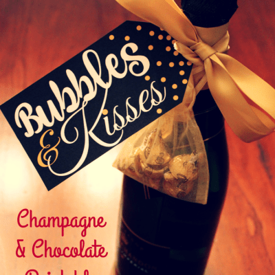 Champagne Bubbles And Kisses Free Printable Gift Tag