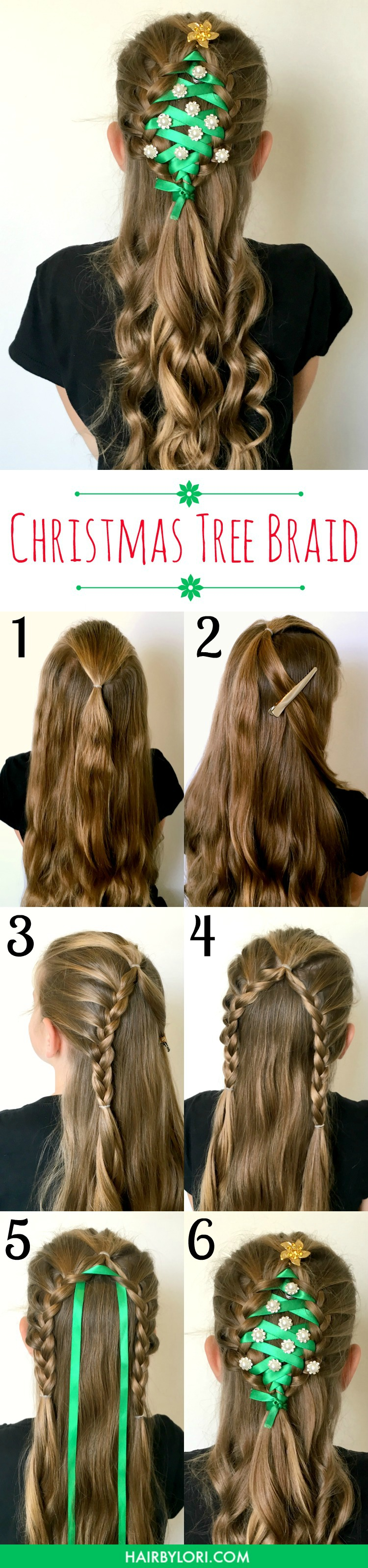 Whether you are head off to a school or work holiday party, an ugly sweater party or a family event - THIS will be the hairstyle that everyone is talking about! | OHMY-CREATIVE.COM