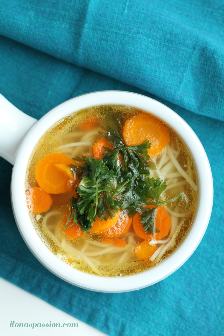 Easy, tasty and comforting Easy Chicken Soup Recipe I Oh-My Creative
