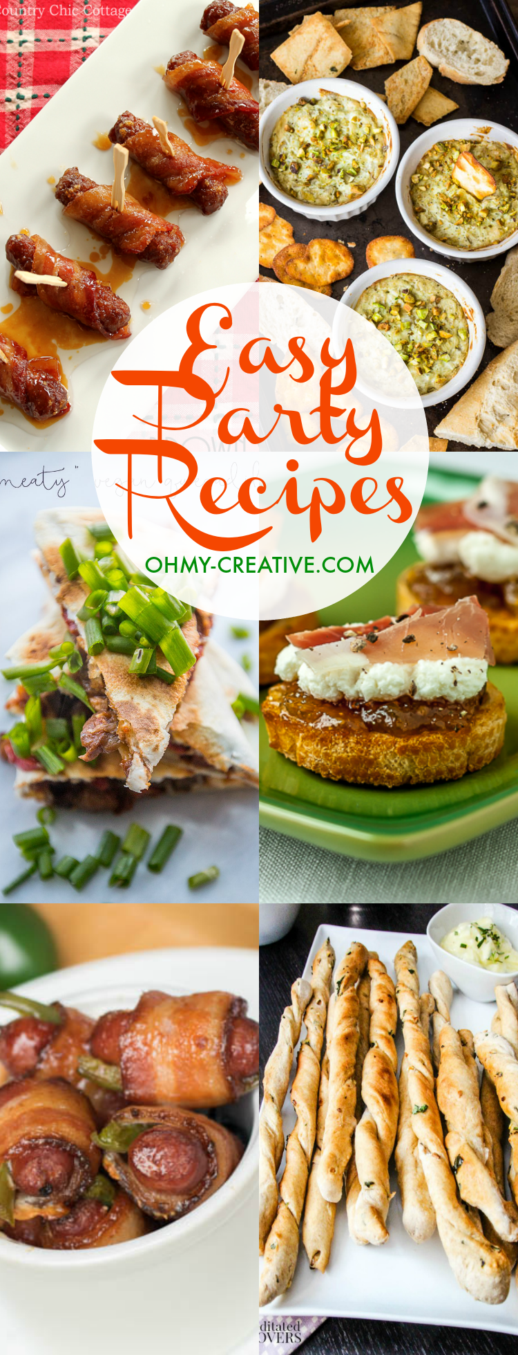 Easy Party Recipes for any occasion or for the holidays!  |  OHMY-CREATIVE.COM