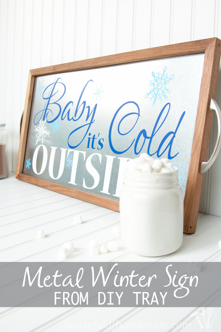 Metal Winter Sign from DIY Tray