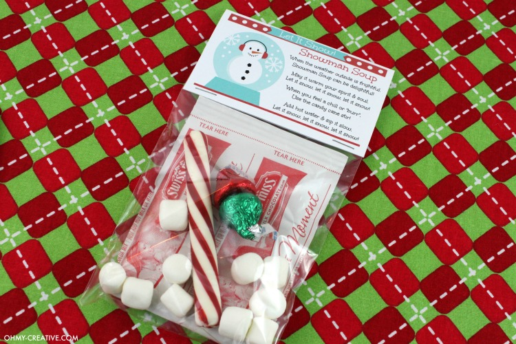 photo relating to Snowman Soup Free Printable Bag Toppers called Snowman Soup Present Recipe - Oh My Innovative