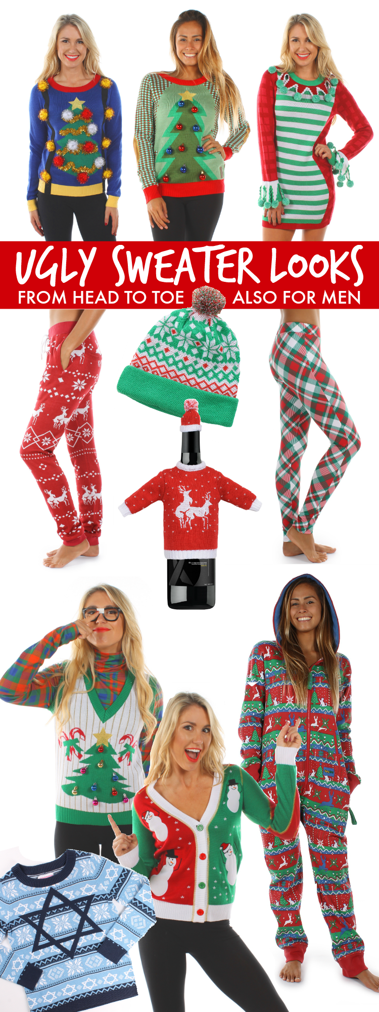 b3fc80ede 50 Ugly Christmas Sweater Party Ideas - Oh My Creative