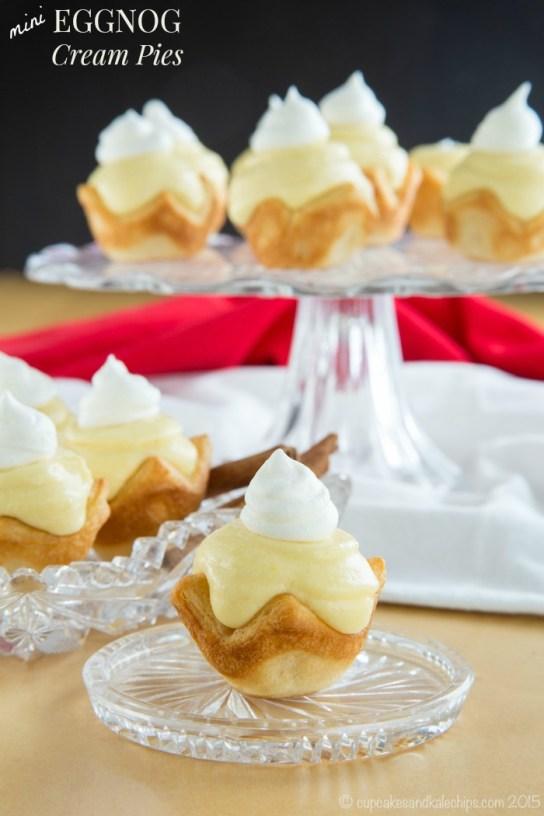 eggnog cream pies