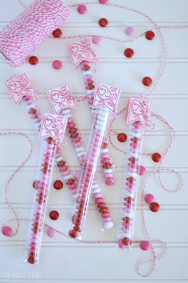 DIY Valentine's Day Gifts - mm candy valentine