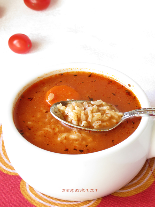Brown Rice Tomato Soup Recipe