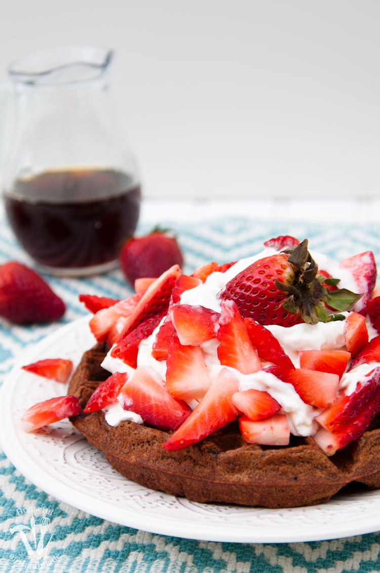 Make breakfast something special with these Healthy Chocolate Waffles. All the chocolatey goodness you love, but with a few secret ingredients to pack them full of nutrition for the whole family.   OHMY-CREATIVE.COM