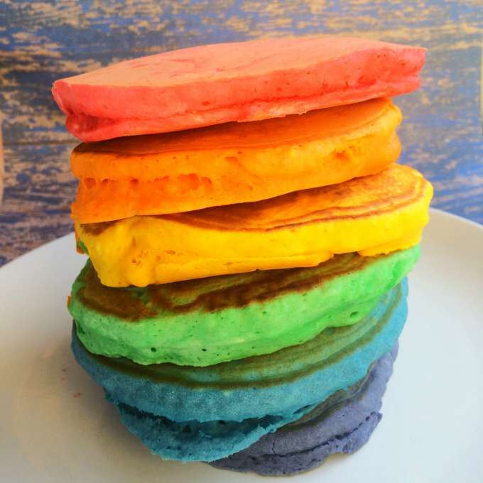 Rainbow Pancakes - Fun Rainbow Food
