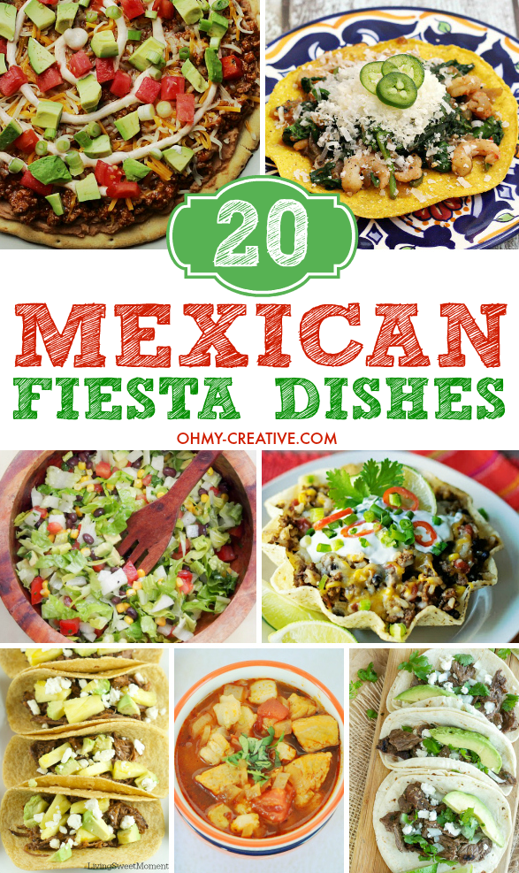 2O Mexican Food Recipes perfect for any Mexican Fiesta or Cinco de Mayo! Great Mexican dinner options throughout the year | OHMY-CREATIVE.COM