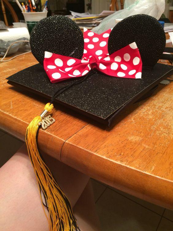 Graduation Quoates and Cap Ideas   Mini Mouse Ears Graduation Cap Decoration   OHMY-CREATIVE.COM