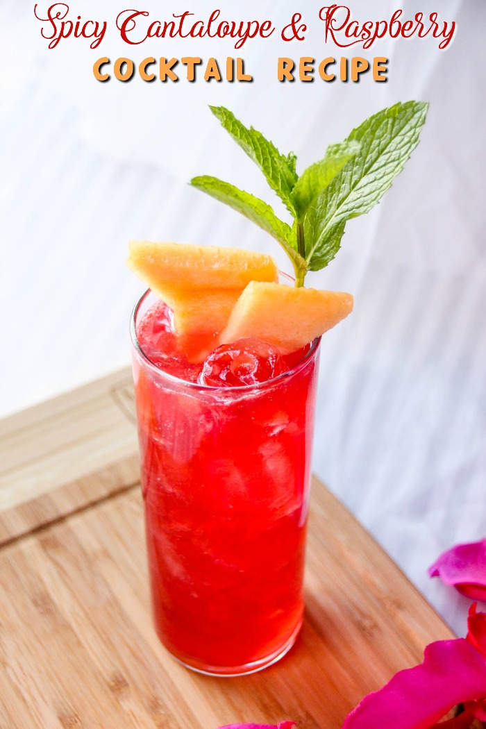 Spicy Raspberry Cantaloupe Cocktail