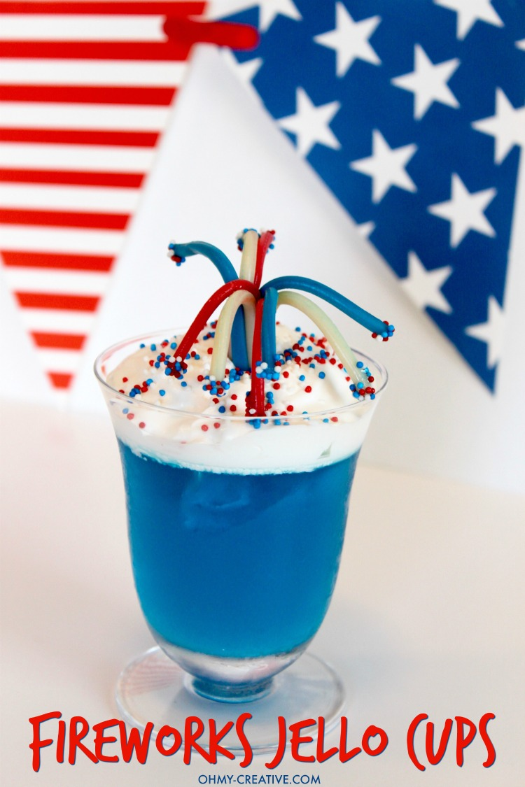 4th of July Dessert Fireworks Jello Cups