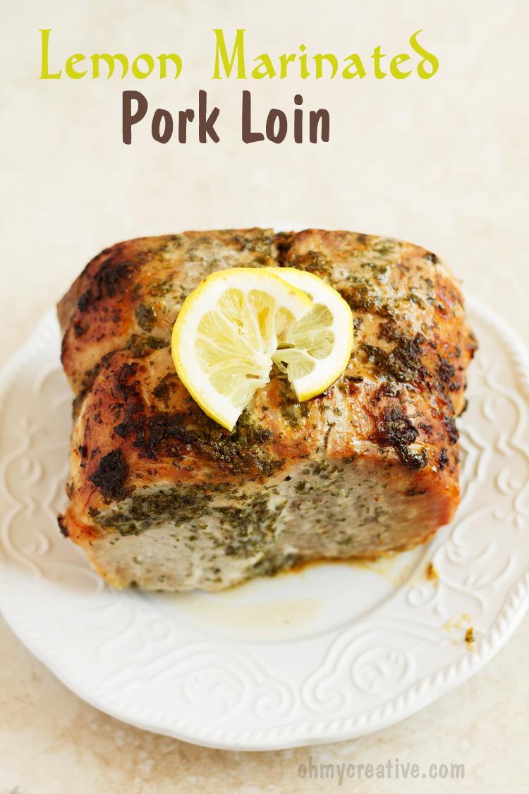 Lemon Marinated Pork Tenderloin Recipe