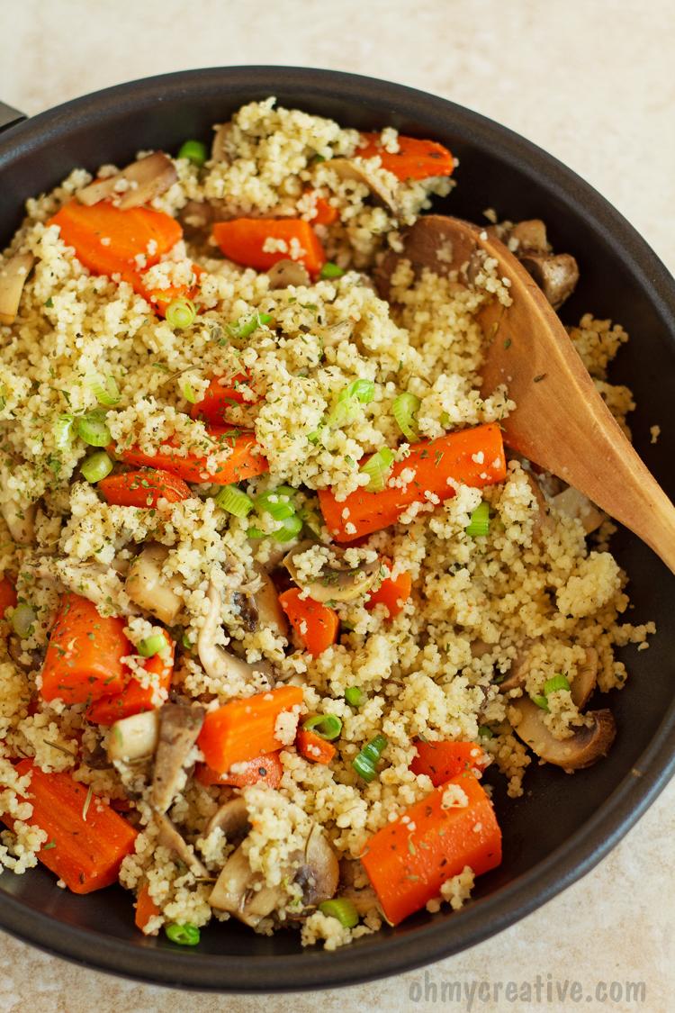 Mushroom Mediterranean Couscous Recipe