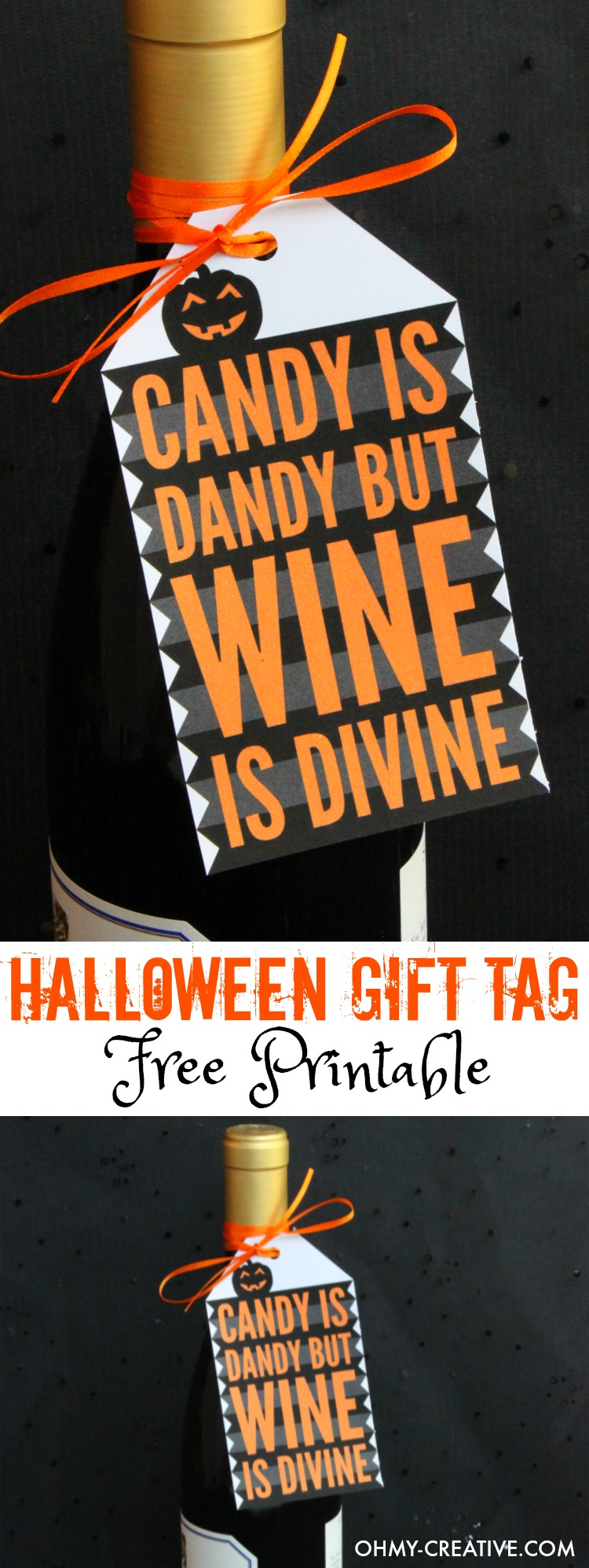 Halloween gift tag free printable oh my creative print out this halloween gift tag free printable for your halloween party hostess gift great negle Choice Image