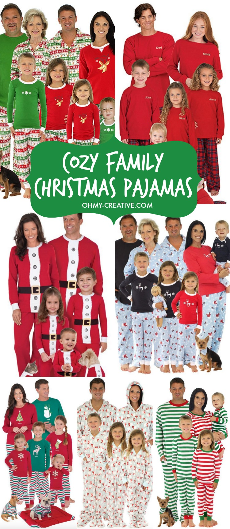 Unique Baby Christmas Family Pajama Daddy Mommy Pet and Me