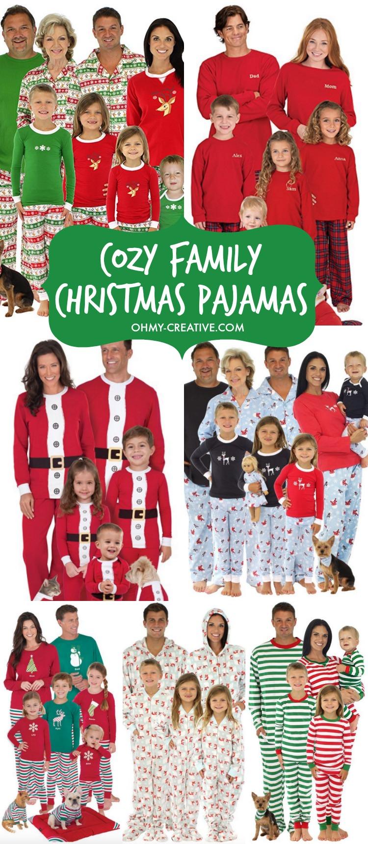 11 COZY FAMILY CHRISTMAS PAJAMAS FOR 2020!