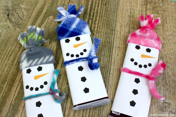 picture regarding Snowman Candy Bar Wrapper Free Printable known as Snowman Free of charge Printable Sweet Bar Wrapper Template - Oh My