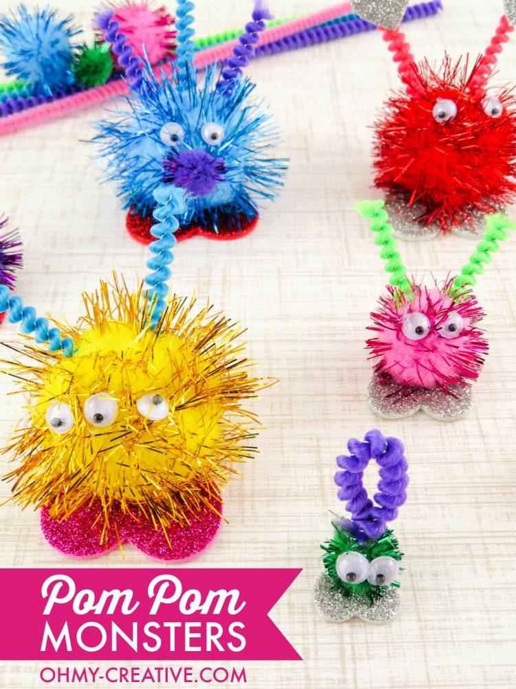 How To Make Pom Pom Monsters