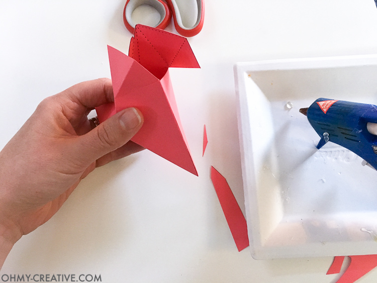 How to make a 3D Paper Heart Box - Paper Valentine | Free Printable Valentine | Printable Paper Heart | Origami Heart | Non-candy Valentine | Heart Box | Treat Box | Kids Valentine Ideas | Valentine Gift Ideas
