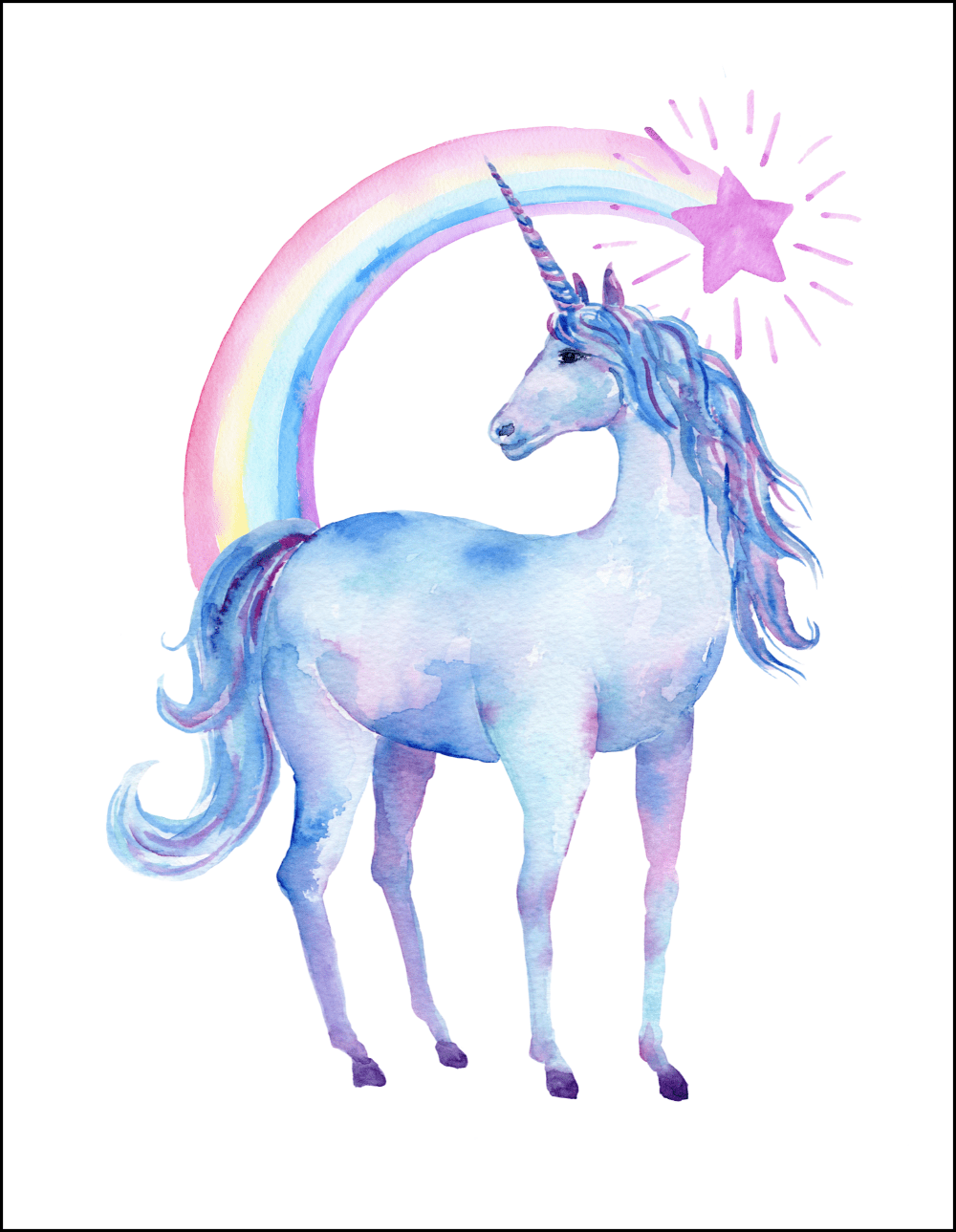 - Free Printable Watercolor Unicorn Pictures - Oh My Creative
