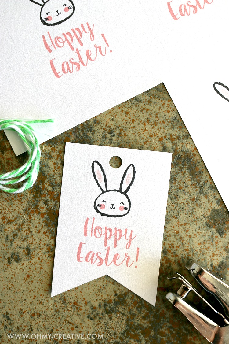 graphic relating to Printable Easter Gift Tags called No cost Printable Hoppy Easter Present Tags - Oh My Resourceful