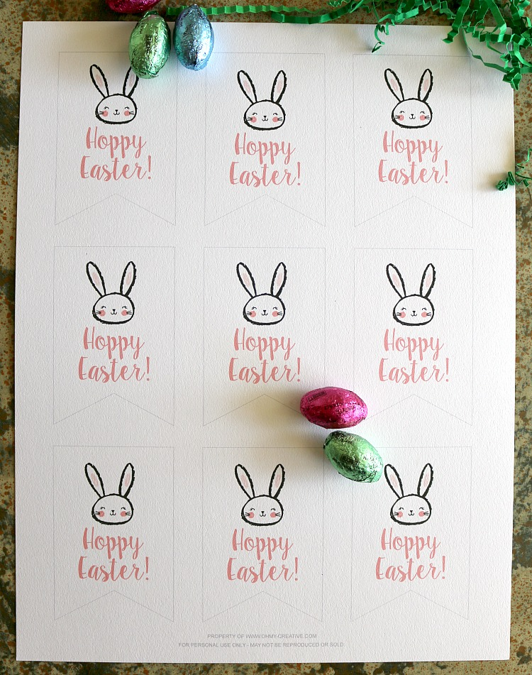 image relating to Free Printable Easter Tags identify Cost-free Printable Hoppy Easter Present Tags - Oh My Resourceful