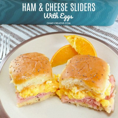 Breakfast Hawaiian Ham And Cheese Sliders