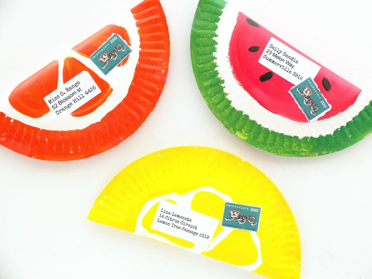 Paper Plate Fruit Envelope Craft   20 PAPER PLATE CRAFTS FOR KIDS   OHMY-CREATIVE  sc 1 st  Oh My Creative & 20 Paper Plate Crafts For Kids - Oh My Creative