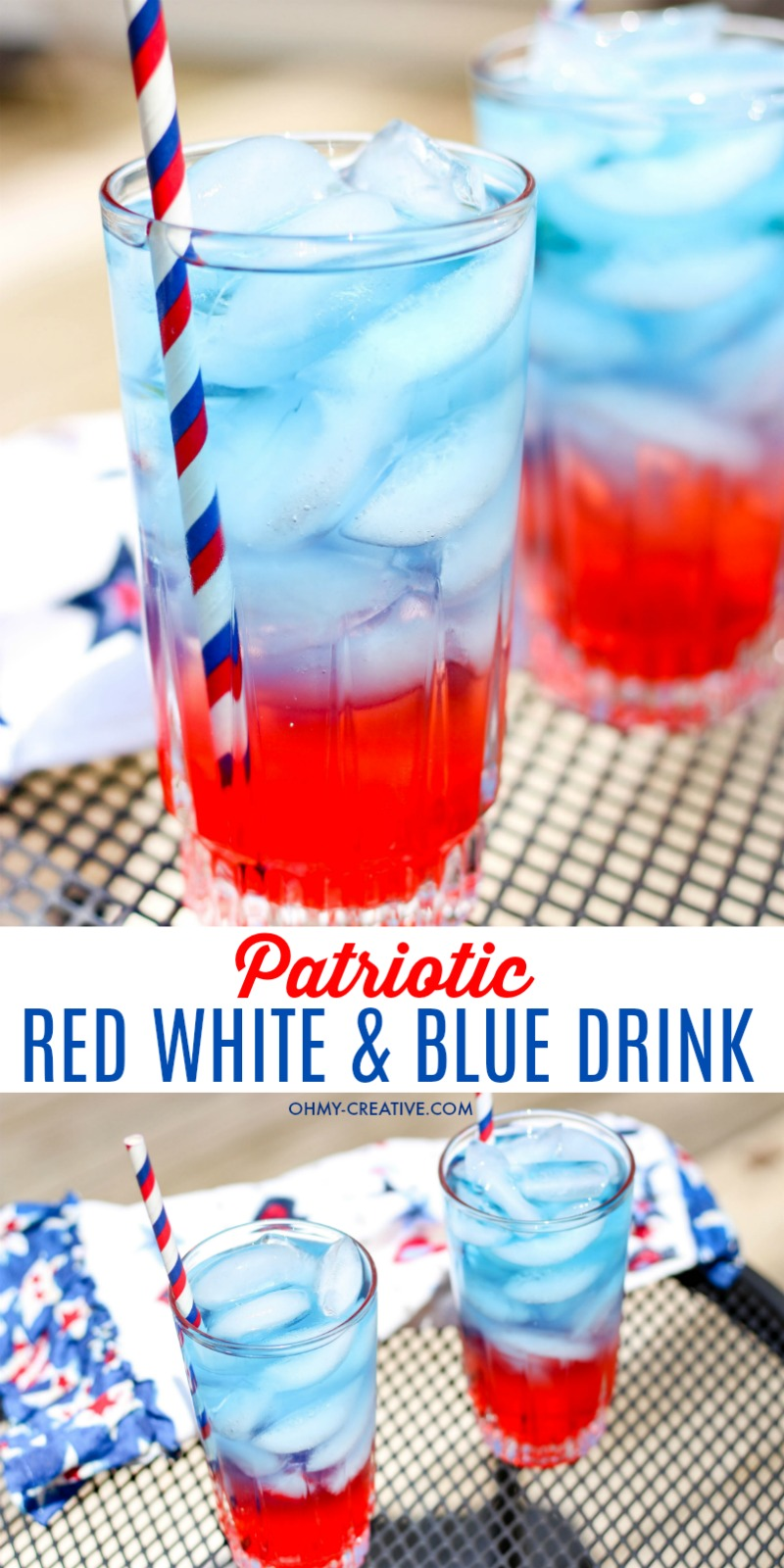 Non Alcoholic Red White And Blue Drink Oh My Creative