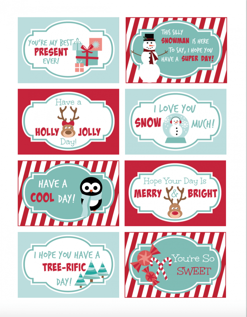 image regarding Printable Lunchbox Notes referred to as 10 Totally free Printable Lunchbox Notes - Oh My Imaginative