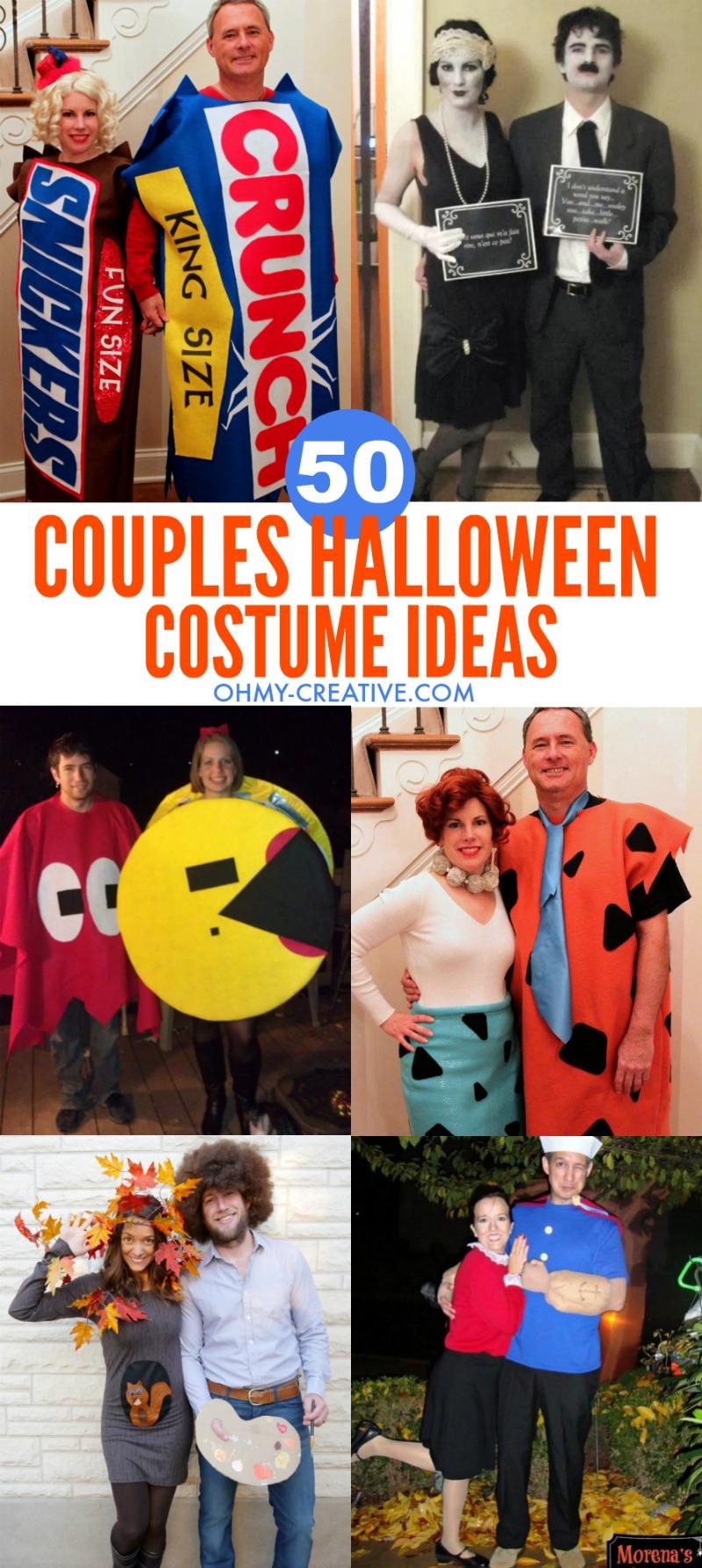 50 Couples Halloween Costume Ideas | OHMY-CREATIVE.COM | Halloween Costumes for Couples | Couples Costumes | Halloween Couple Costumes | adult couple halloween costumes | funny couple costumes | couple costume ideas | his and hers halloween costumes | adult couple costumes