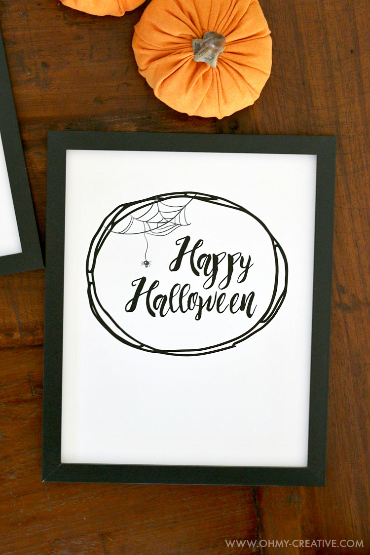 image regarding Free Printable Halloween Decorations named Joyful Halloween Cost-free Halloween Printables - Oh My Innovative