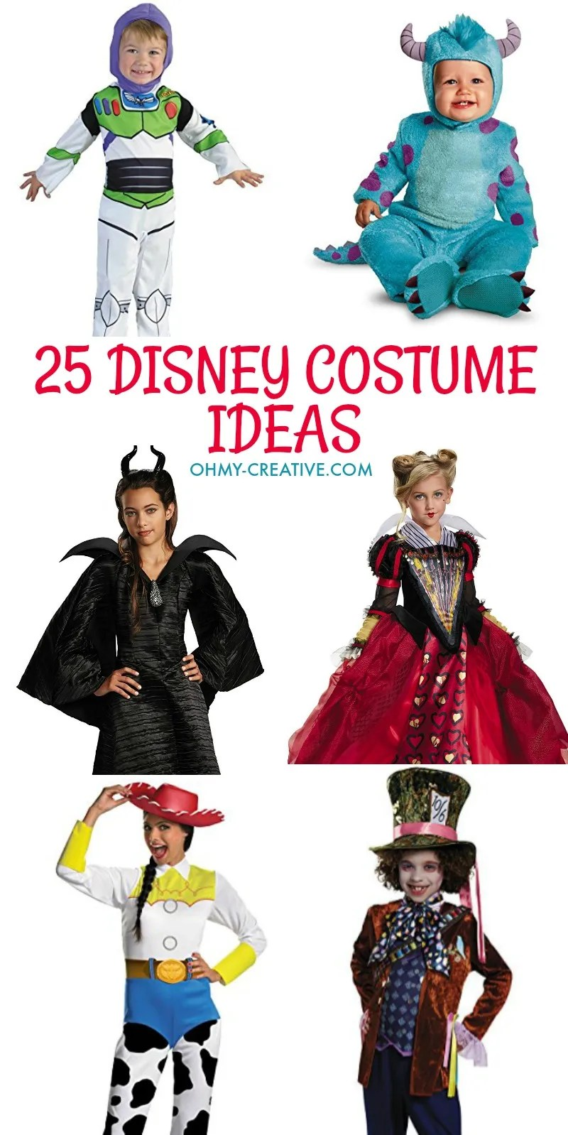 25 Disney Costume Ideas | OHMY-CREATIVE.COM | Disney Halloween Costumes | Disney Kids Costumes | Disney Teen Costumes Disney Adult Costumes | DIY Costumes | DIY Halloween | DIY Halloween Costumes | Amazon Costumes | Best DIY Halloween Costumes | Disney Halloween Costumes
